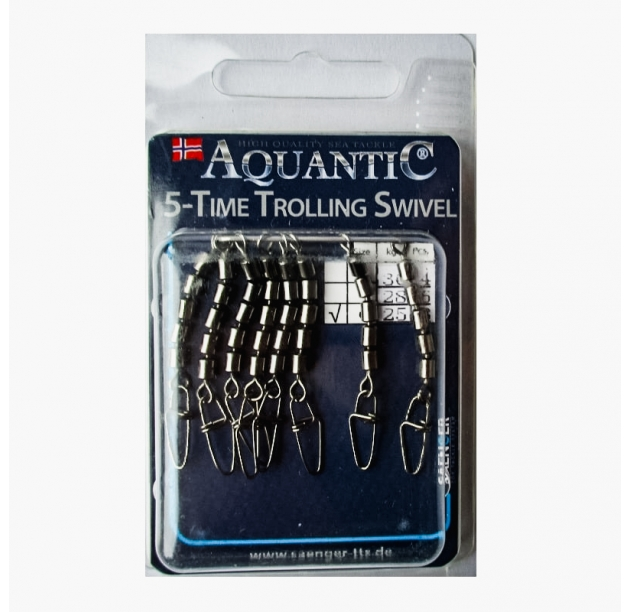 AQUANTIC 5-Time Trolling Swivel
