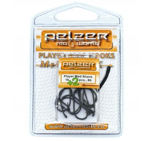 Pelzer Player Hook Med Shank №4 10+2pcs