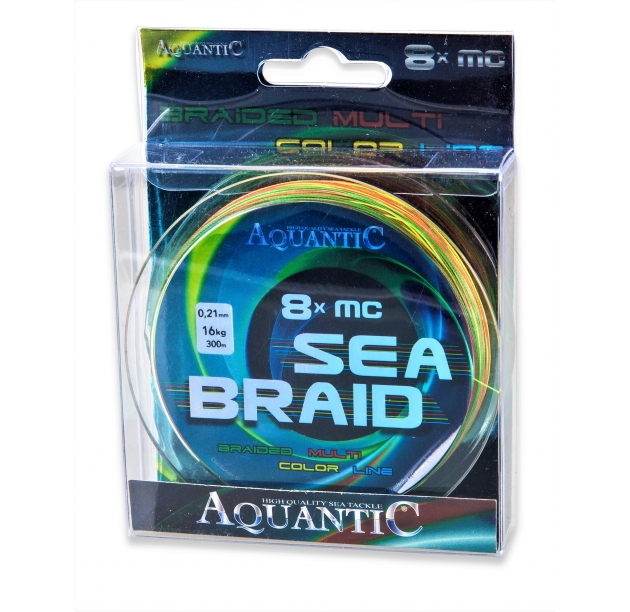 AQUANTIC 8x MC Sea Braid multicolor 0.33mm 26kg 300m