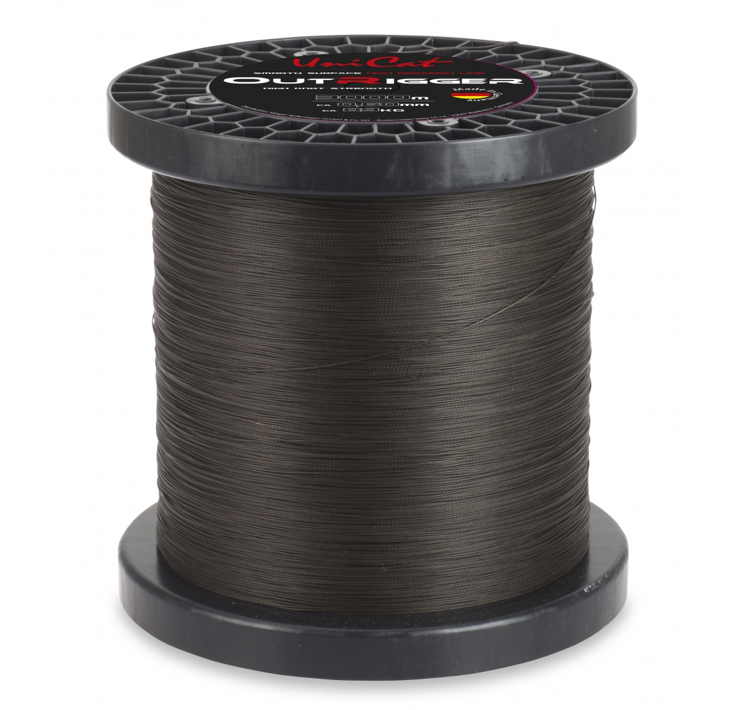 Braid UNI CAT Outrigger Line dunkelbraun 0.70mm 113kg 1m