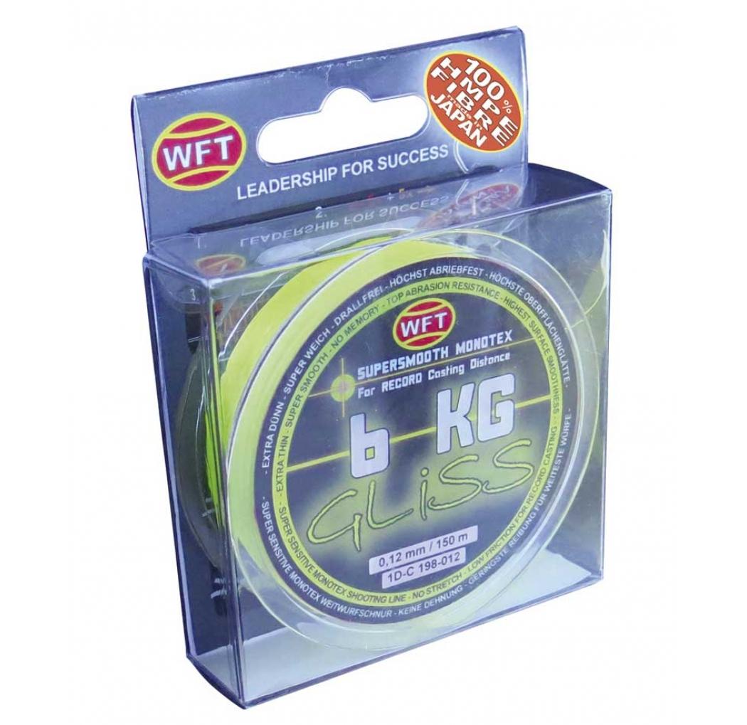 Monotextile cord WFT GLISS 6KG Monotex yellow 0.12mm 150m