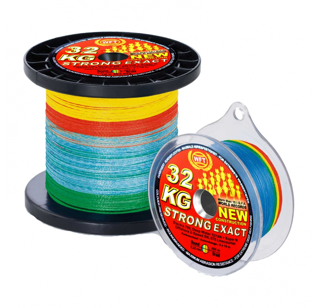 Braid WFT New Strong 22KG multicolor 0.18mm 300m