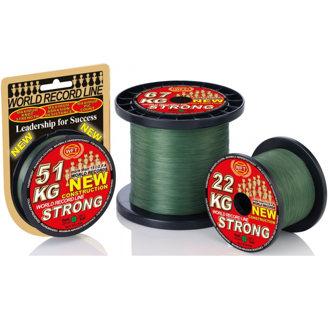 Braid WFT New Strong 22KG green 0.18mm 600m