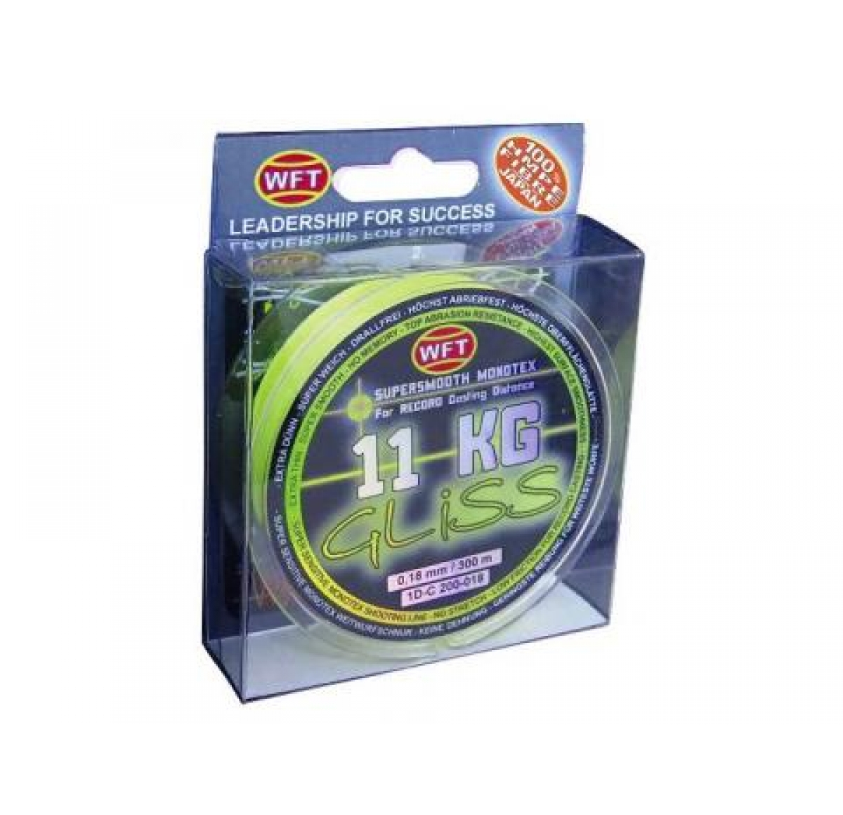 WFT GLISS yellow 150m 4KG 0.10mm