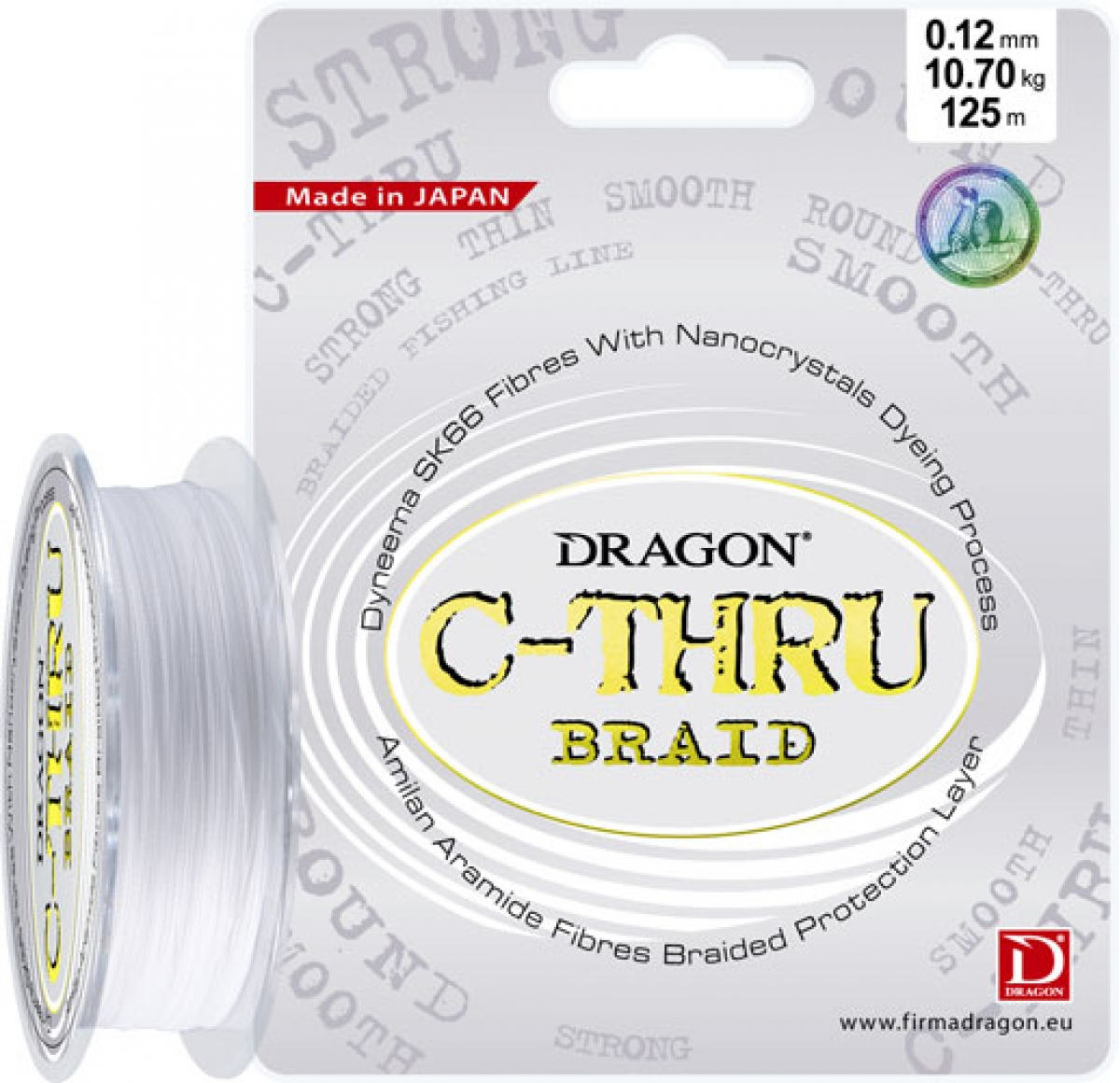 Dragon C-THRU Braid 125m 0.18mm 17.8kg