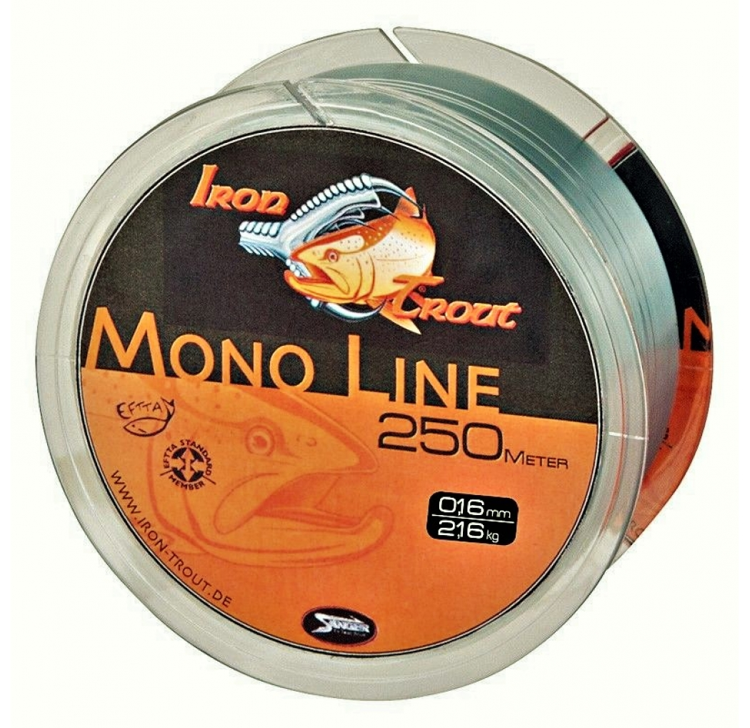 IRON TROUT Mono Line 0.18mm 250m grey