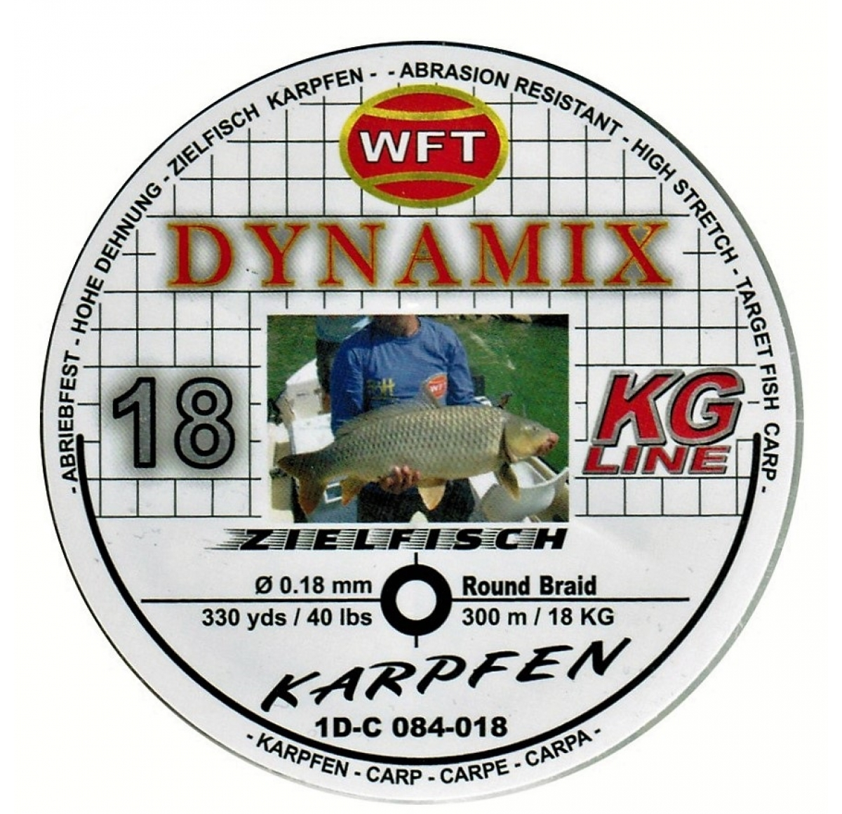 WFT Dynamix Karpfen black 300m15KG