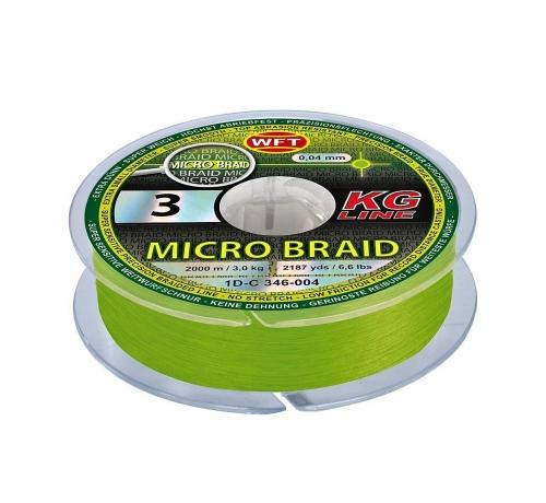 WFT Micro Braid KG chartreuse 150m 3.5Kg 0.06mm