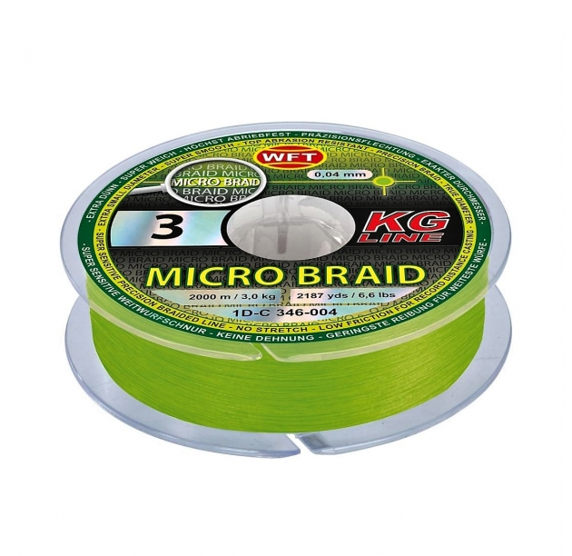 WFT Micro Braid KG chartreuse 150m 4.5Kg 0.08mm