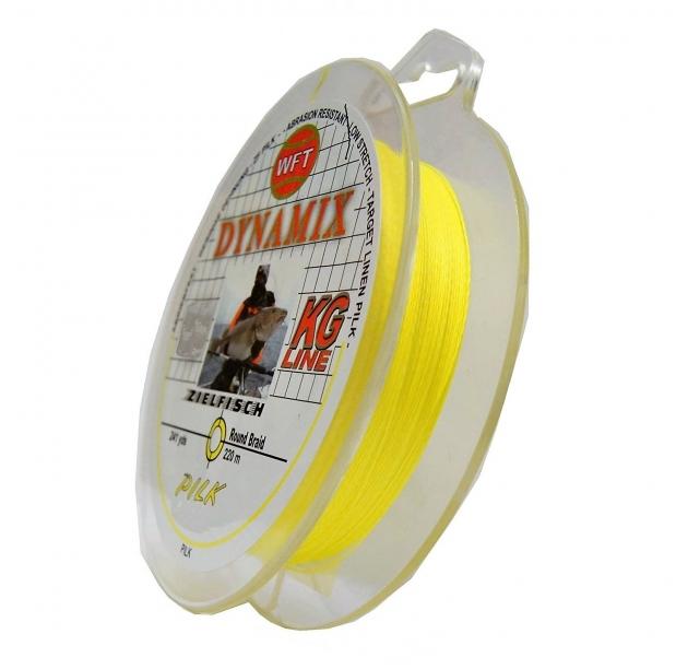 Braid WFT Dynamix Pilk yellow 0.22mm 20kg 220m
