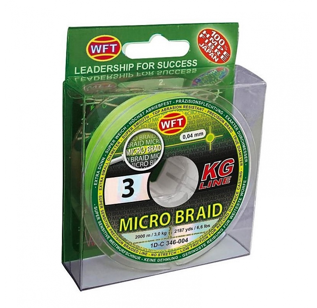 WFT Micro Braid 4.5KG chartreuse 0.08mm 150m